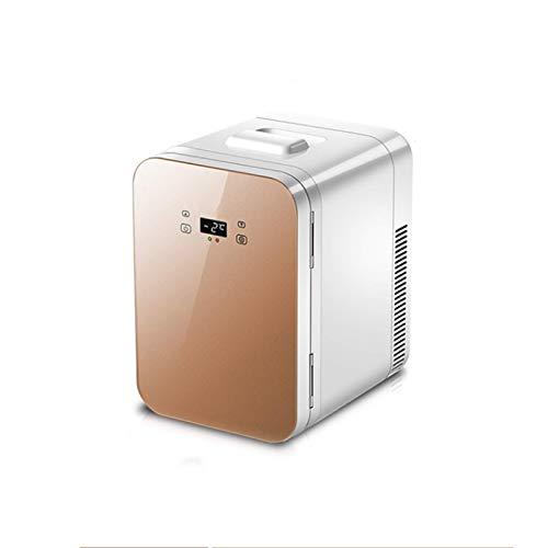 N / B Mini refrigerador de automóviles, Panel de Control de Temperatura Inteligente, Pantalla Digital de Pantalla Grande, operación silenciosa, Panel de Vidrio, para Bebidas, Alimentos