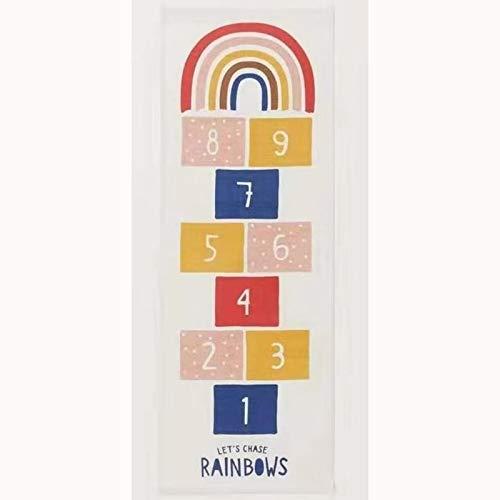 LITIST Baby Hopscotch Spiel Matte Aktivität Gymnastik Matten Regenbogen Kinder Krabbeln Matte Dekorationen Wohnzimmer Teppich Kindergarten