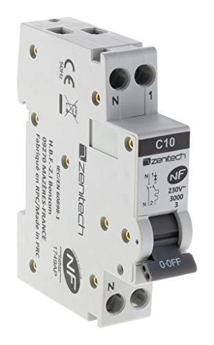 Disjoncteur PH/N - 10A NF - Zenitech