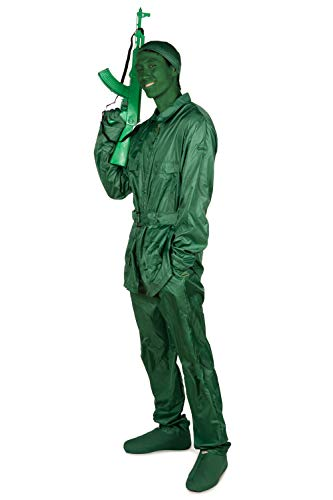 Tipsy Elves' Men's Toy Soldier Costume - Classic Kids Toy Green Halloween Jumpsuit Size Large