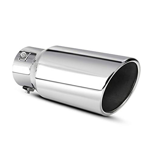 Apeixoto 2.0 2.25 2.5 Inch Adjustable Inlet Exhaust Tip 4 inch Outlet...