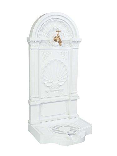 aubaho Standbrunnen Waschbecken Alu Brunnen Waschplatz Wandbrunnen antik Stil Weiss