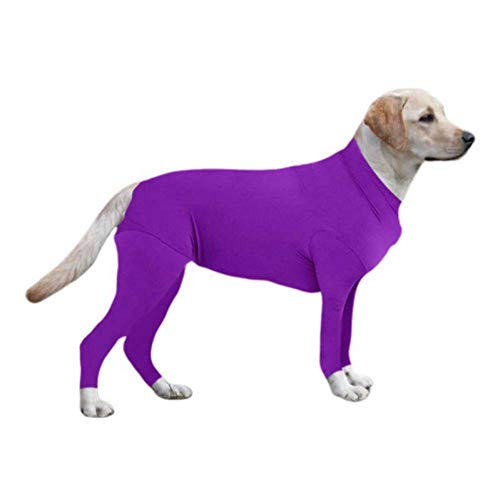 Smilikee Soft Flexible Dog Jumpers Winter Lined Coat Outfit 4 legged Full Body Large Dog Clothes Easy On and Off