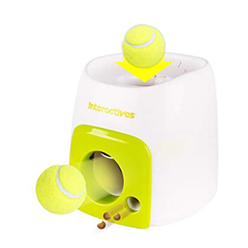 Interactive Automatic Ball Launcher for Dogs, Dog Tennis Ball Throwing Machine for Small, Medium Large Size