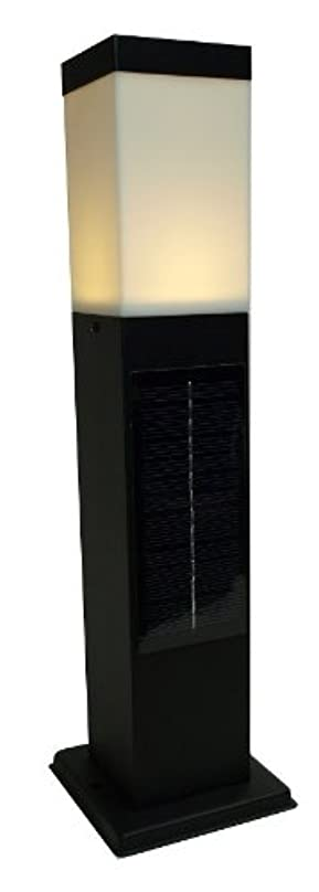 アームストロング受益者明日システック LED ソーラーポールライト スリムタイプ 電球色ブラック SPL-SL-ORB