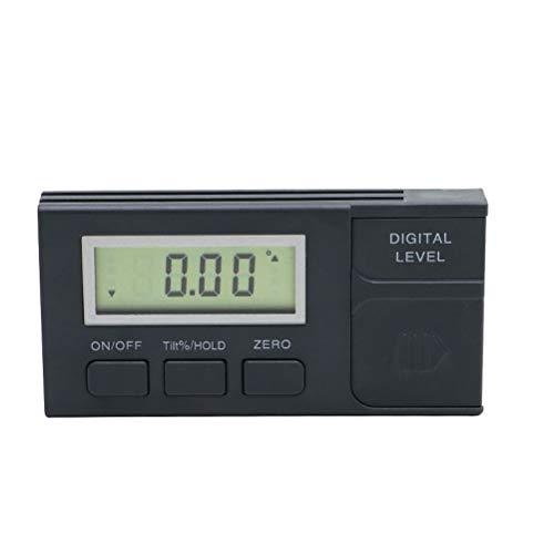 RongWang Biselado de la Caja Digital portátil Digital de 360 Grados mínimo inclinómetro del prolongador del Metro de Nivel electrónico de Base magnética Transportador