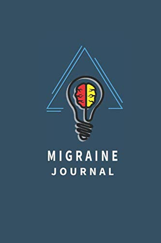 Migraine Journal: Arapawa Color Background With Light Blue Triangle. Headache Logbook. Record Times of The Headache, Location, Severity, Triggers, Relief.
