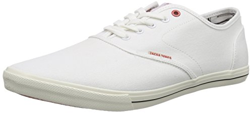 JACK & JONES Herren JJSPIDER Canvas Sneaker Low-Top, Weiß (Bright White), 45 EU