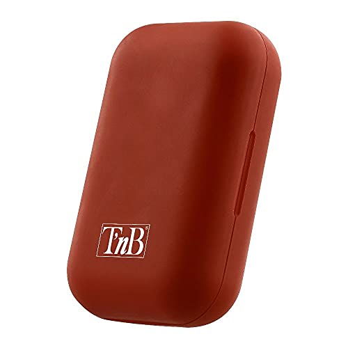 TNB EBSHINYRD Auriculares Bluetooth TWS con Caja de Carga, Blanco/Rojo