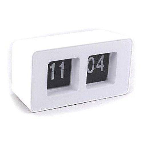 FreshGadgetz 1 Set di Retro Desk Clock Lightheadedness - Qualità bianco materiale ABS