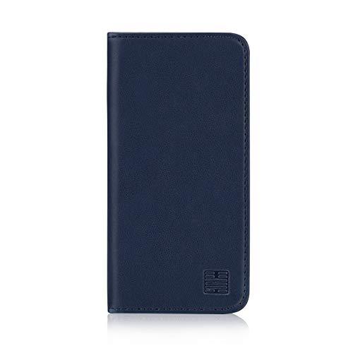 32nd Klassische Series - Lederhülle Hülle Cover für Apple iPhone 5, 5S und SE (2016), Echtleder Hülle Entwurf gemacht Mit Kartensteckplatz, Magnetisch & Standfuß - Marineblau
