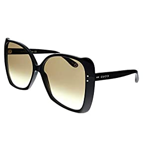 Fashion Shopping Gucci GG0471S Shiny Black/Brown Gradient One Size