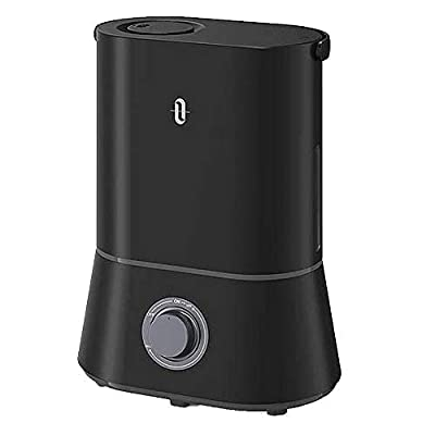 TaoTronics Humidifier, Cool Mist Humidifiers for Large Bedroom Babies,26dB Ultra Quiet, 4L Ultrasonic,90mm Water Inlet, Night Light, Adjustable Mist, Automatic Shut-Off for Home Office 12-50 Hours (L)