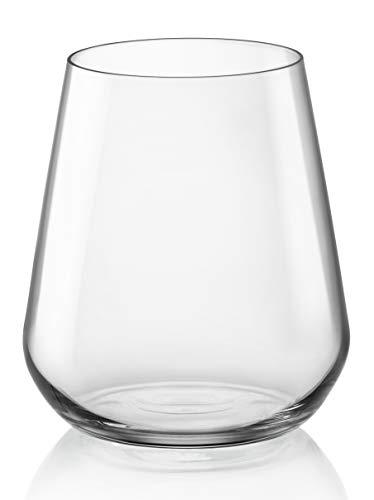 Bormioli Rocco - Inalto Bicchiere in Vetro Trasparente, 44 cl, Confezione da 6 Pezzi
