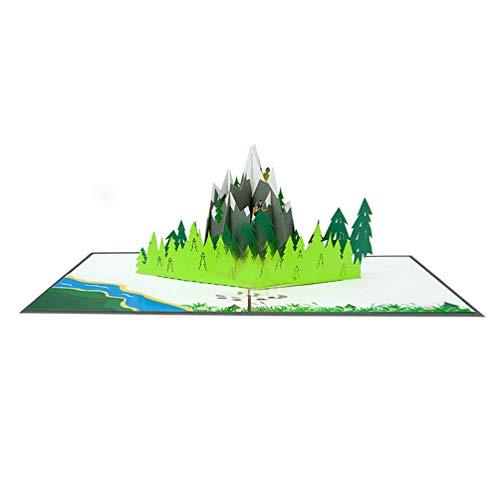 Favour Pop Up Grusskarte Berwandern, Bergsteigen. Auf kleinstem Raum ein filigranes Kunstwerk. TF123