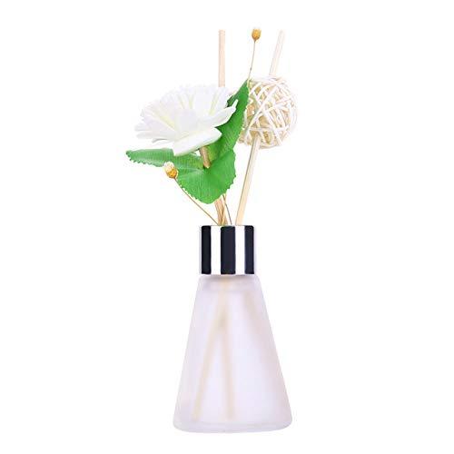LIUL Bottiglie di Vetro Reed Diffusore Sticks Olio Essenziale Deodoranti per Ambienti Aromaterapia Senza Fiamma Deodorante per Ambienti Set di profumi 50 ML, Osmanthus