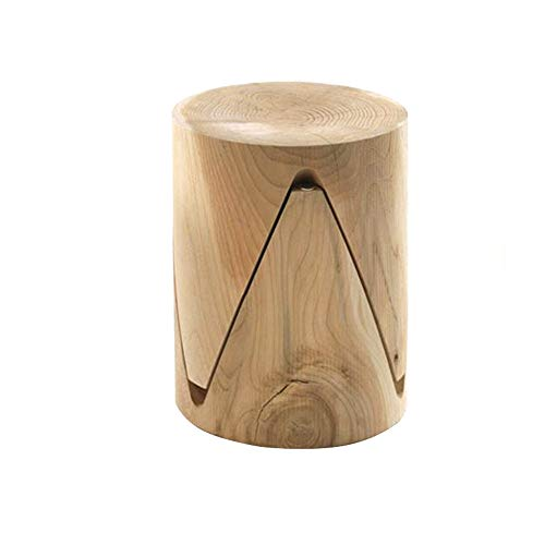 End Table Modern Unique Fashion Design Mushroom Top Simple Natural Wood Side End Table Suitable For Indoor Or Outdoor Easy Clean One Set (Color : Natural, Size : 33x33x45cm)