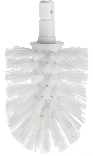 KEUCO Ersatz Toiletten-Bürstenkopf, austauschbar, 12,7x7,2cm, weiß, Original Hersteller, WC-Bürste Ersatzbürstenkopf