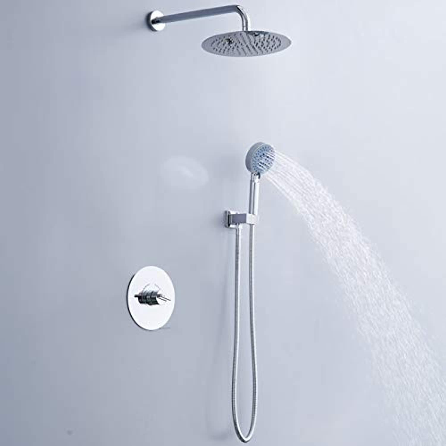 Free shipping becola concealed shower set new design chrome shower faucet kit shower wall mounted B-F1006,BF1006