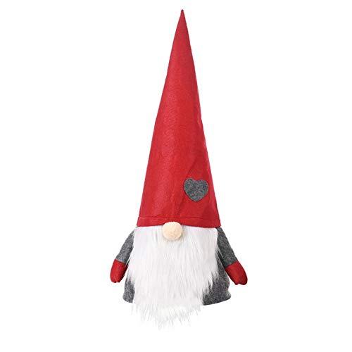 househome Gnomo de decoración navideña de Pascua, gnomo Sueco Hecho a Mano muñecas de Santa Gnomo...