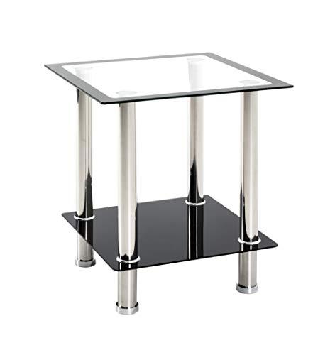 HAKU Möbel Tavolino, Lamiera di Acciaio Inox, Argento, 40 x 40 x 46 cm