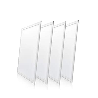 (4-Pack) LED Panel Light, 1x4, 2x2, 2x4, Dimmable, 40-72W, 4400-8640Lm, Ultra Thin Edge-lit Flat Panel, UL & DLC Certified