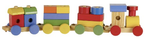 FIRST LEARNING - 6323 - Train Bois - 20 Pièces