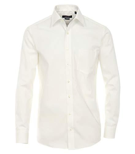 Casamoda Uomini Camicia per Ufficio 006059 Anche Taglie Grandi 100% Cotone Bianco Sporco 43/XL