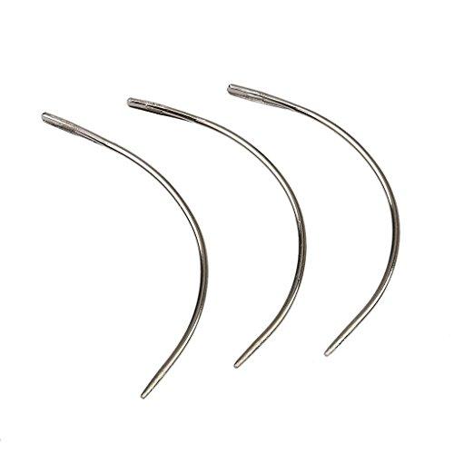 Ndier Lot de 12 aiguilles pour extension capillaires Style C pour tressage des fils de trame - Aiguilles à crocheter
