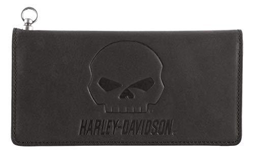 Harley-Davidson Men's Outsider Trucker Bi-Fold Leather Wallet w/RFID HDMWA11648