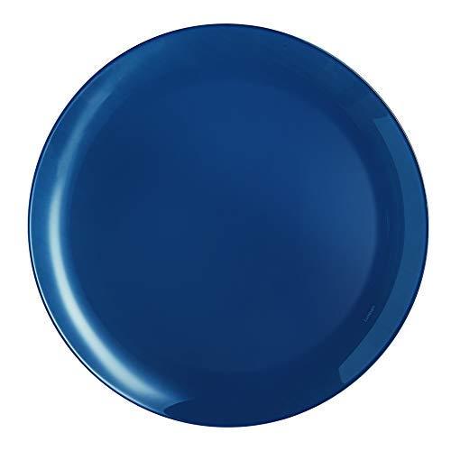 Luminarc Arty - Juego de vajilla de cristal de ópalo translúcido, 18 piezas, color azul