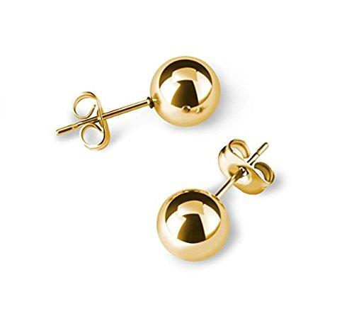 Blue Diamond Club - Small 9ct Gold Filled 6mm Ball Stud Earrings
