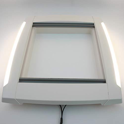 Marco interior para claraboyas MPK, claraboya, 40 x 40 cm, caravana, autocaravana, con iluminación LED y doble plisado