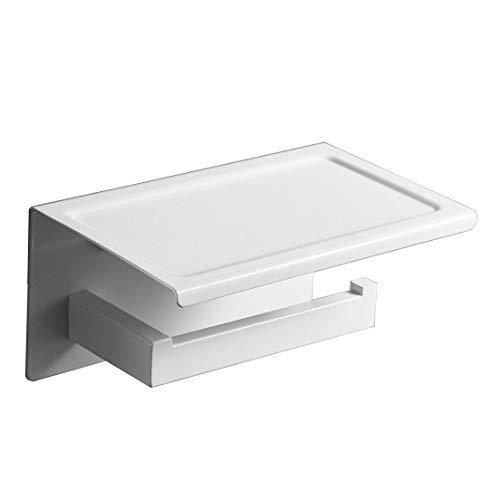 Leekayer 304 Edelstahl Toilettenpapierhalter Ohne Bohren,Weiß Selbstklebender 3M-Kleber, Es Besteht Keine Sturzgefahr 19 cm WC Rollenhalter Wandmontage