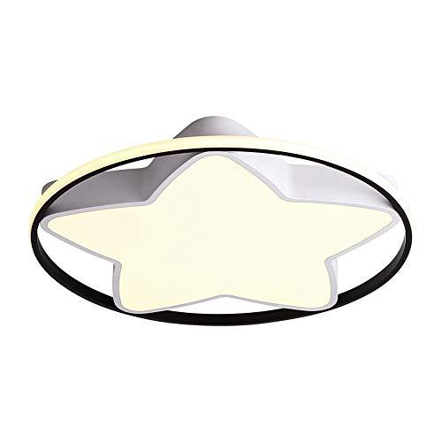 ZHANGL Lámpara de Techo LED Creativa Moderna Ultra Delgada Acrílico Restaurante Iluminación Luz Blanca Lámpara de Techo Iluminación Decorativa incrustada 50 cm [Clase de energía A]