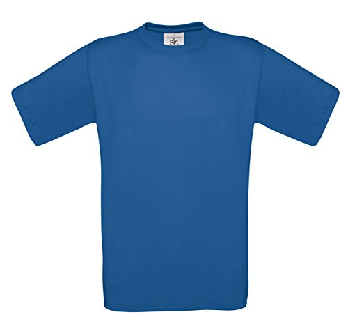 B&C - T-shirt - - Manches courtes Homme - Bleu - Bleu marine - petit