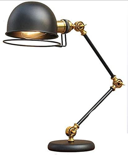 Lámpara de escritorio de arquitecto industrial vintage lámpara de escritorio lámpara de brazo largo mesa de lectura lámpara de brazo oscilante Ángulo y brillo libremente ajustables