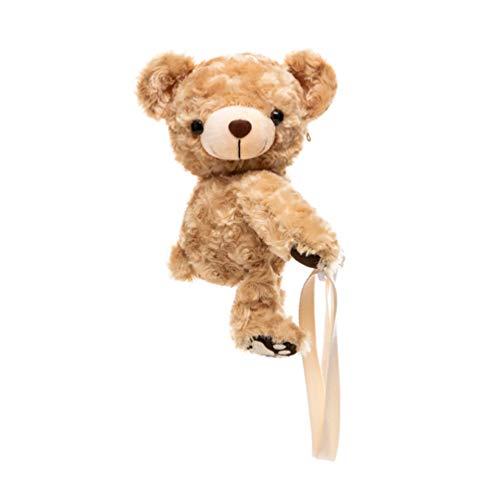 VALICLUD Crossbody Bag Stuffed Animal Plush Purse Teddy Bear Shoulder Bag for Women Girls