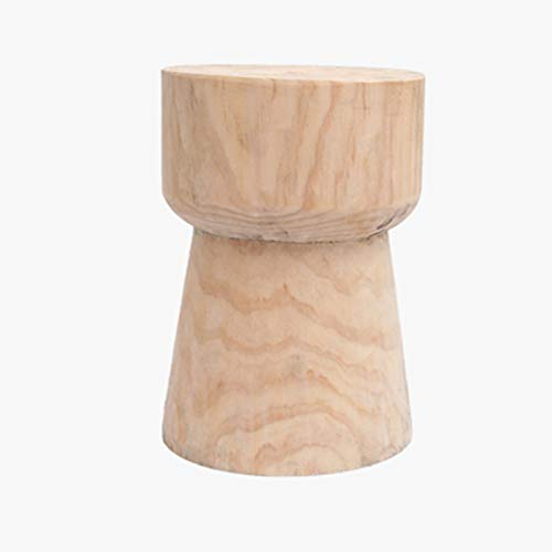 NNHDWS Stump Side Table Or Stool Modern Natural Rustic Round Wooden Tree Stump Accent Side End Table Home Indoor And Outdoor,For Spaces for Bedroom And Living Room,Natural wood color