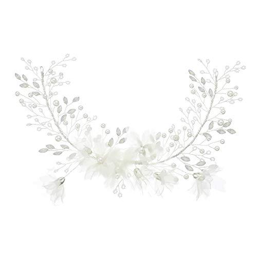 Nrpfell Neueste Kristall Gaze Hand Gemachte Hochzeit Haar Rebe Braut Haar Schmuck Zubeh?R Blumen Kopf Schmuck für Frauen