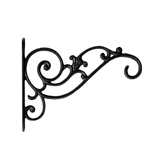ZFZF Schmiedeeisen Wand hängen Blume Stehen Balkon Blume Topf aufhänger Haken aufhänger chlorophytum hängende Blume Korb Single