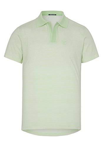 Chiemsee Herren Poloshirt, L Grn/White STR, L