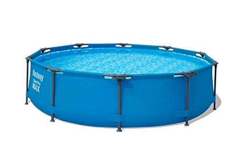 Bestway 56407 Steel Pro Above Ground, 10ft x 30in | Frame Pool Set w/Filter Pump, 10-Feet by...