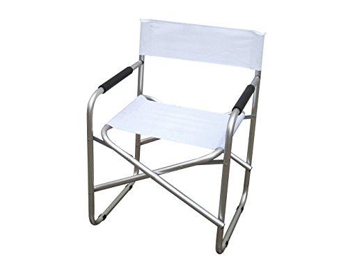 Sedia regista In alluminio e PVC 600d Colore bianco.
