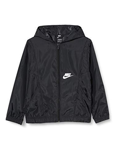 NIKE Unisex niños Ns chaqueta tejida niños chaqueta, Unisex niños, CU9207, negro/negro/negro/blanco, M
