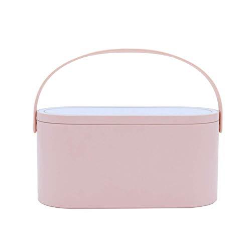Valigrate Tragbar Schminkkoffer Kosmetik Organizer Aufbewahrung Box mit LED Beleuchtet Spiegel für Reisen - Rosa