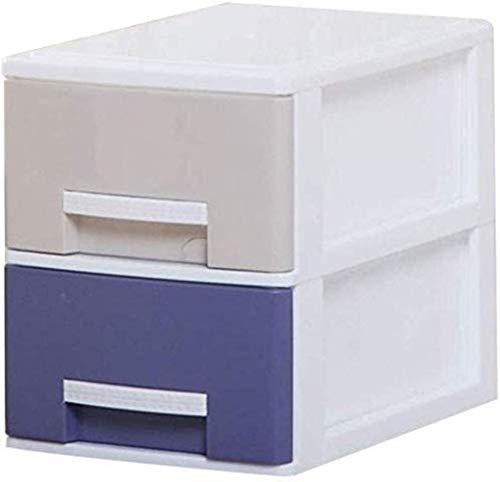 Ablageschränke Aktenschränke Vertikal 2 Schubladen Schlafdatenspeicherschrank Kleidung Aufbewahrungsbox Mehrfarbenplastikschrank Home Office Möbel Bürobedarf (Size : Medium)