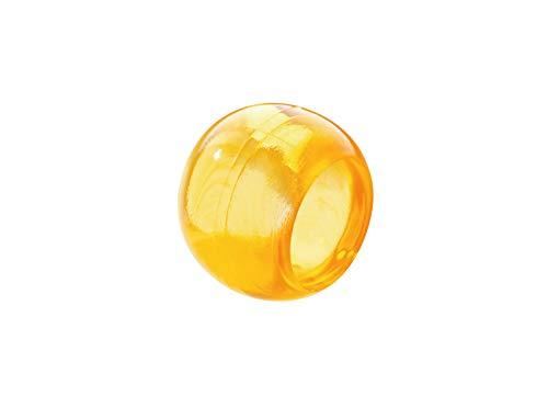 Prodecoshop 8 Schlaufenkugeln, Dekokugeln, Zierkugeln für Gardinen, Kunststoff, Ø Loch 16,5 mm, Honig transparent