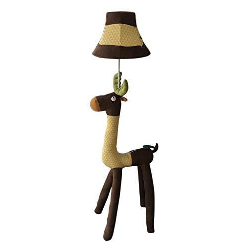 Woonkamerlamp van stof met diermotieven, elk, decoratief, verstelbaar, verticaal, voor kinderkamer, slaapkamer, modern, minimalistisch