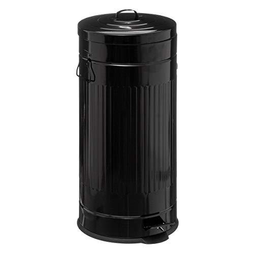 marque Five Simply smart Poubelle métal 30L Cadence Noir